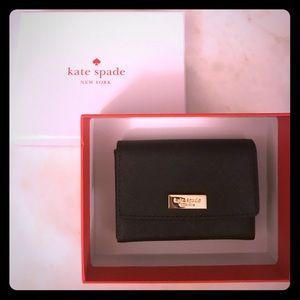 Kate Spade NWT Black Leather Wallet/Card Holder
